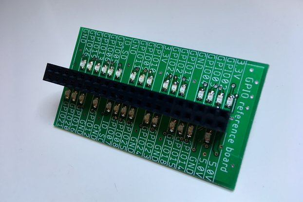 Raspberry Pi GPIO Reference Board with LED status