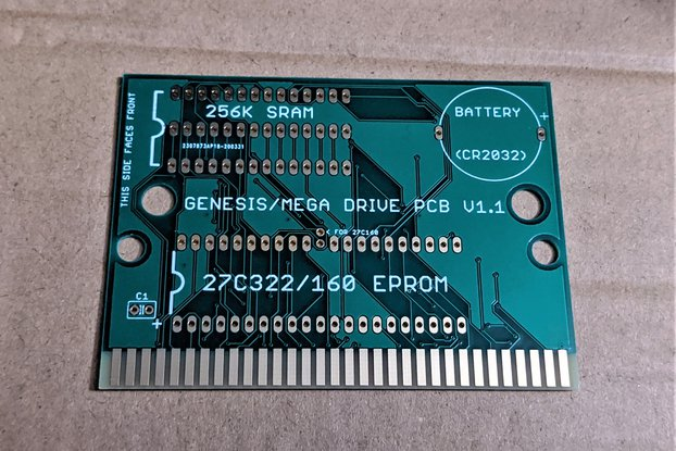 Sega Genesis/Mega Drive Cartridge Circuit Board