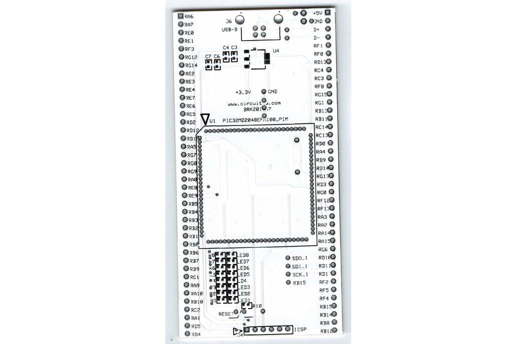 PIC32MZ2048EF PIM breakout board 1