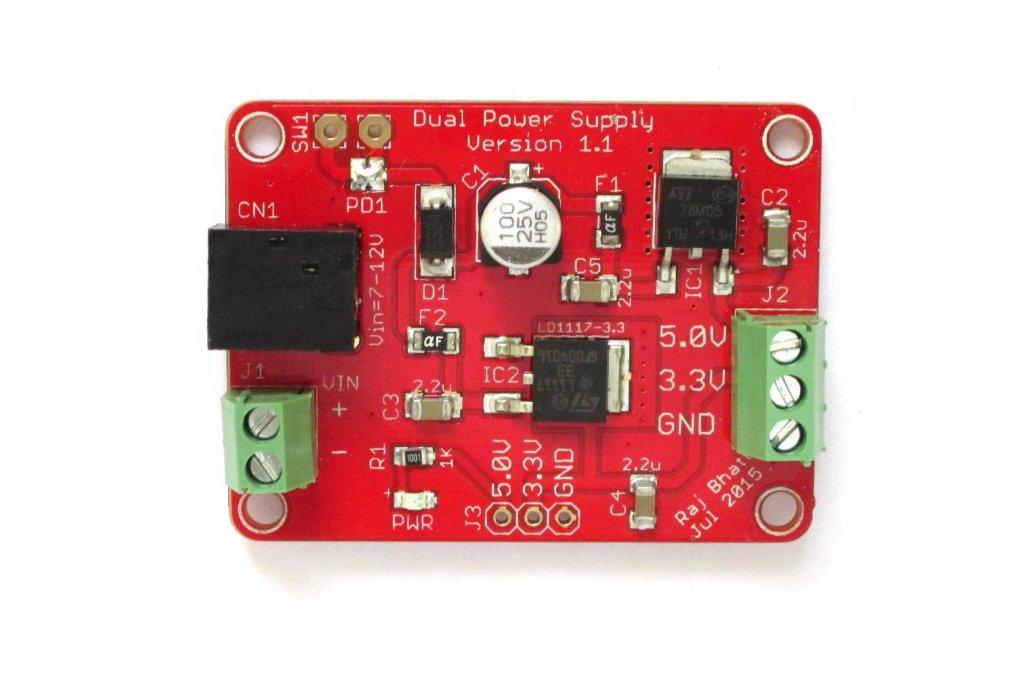 Dual regulated power supply (5.0V/3.3V) board 3