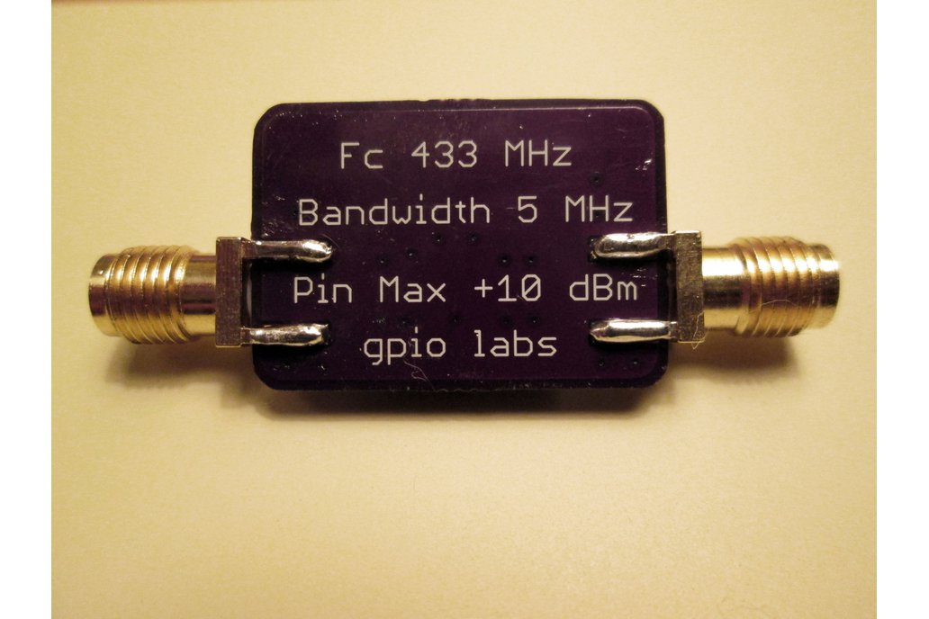 433 MHz Bandpass Filter Band Pass; 5 MHz Bandwidth 4