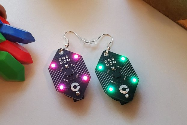 Rupee - ATTINY85 RGB Earrings