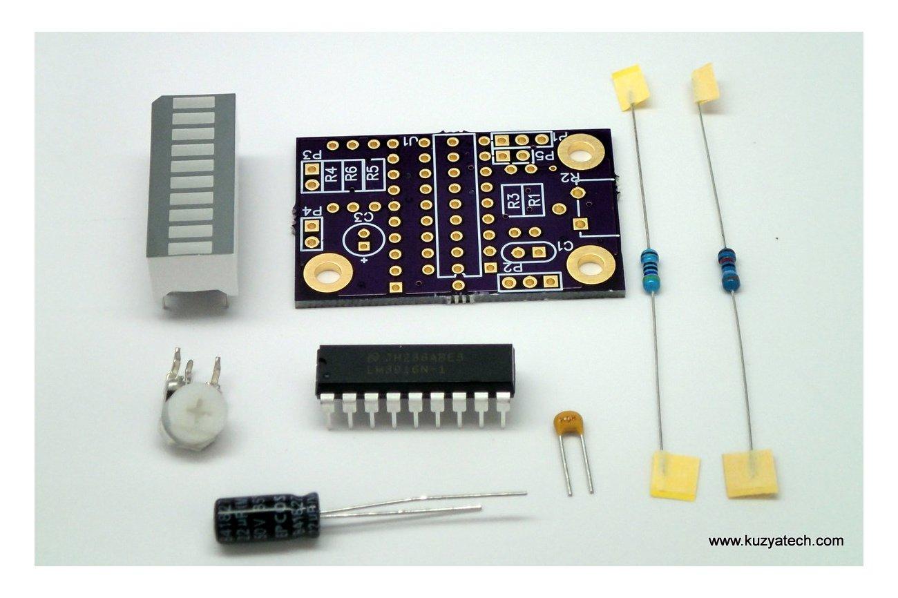LM3916 LED bargraph/ VU meter - pick your color