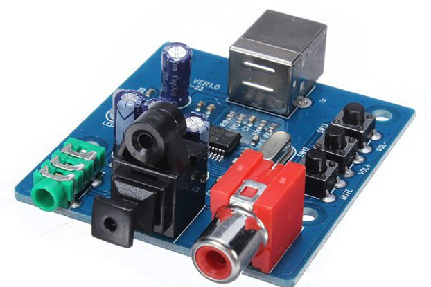 USB To SPDIF Sound Card Decoder Board