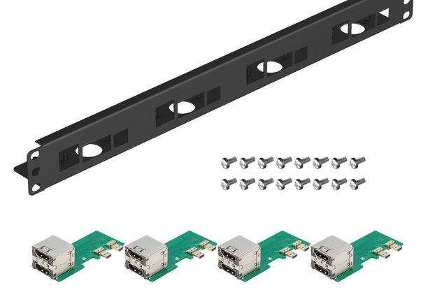 19 Inch 1U Rack Mount for Raspberry Pi 4