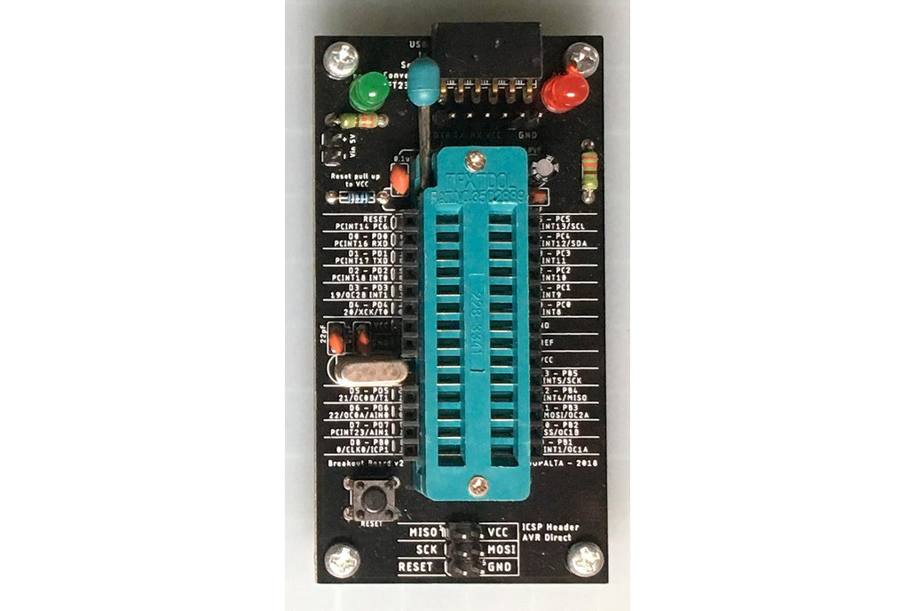 ATMega328P-PU Breakout Board With Zif Socket 1