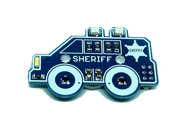 Sheriff car - LED learn to solder kit