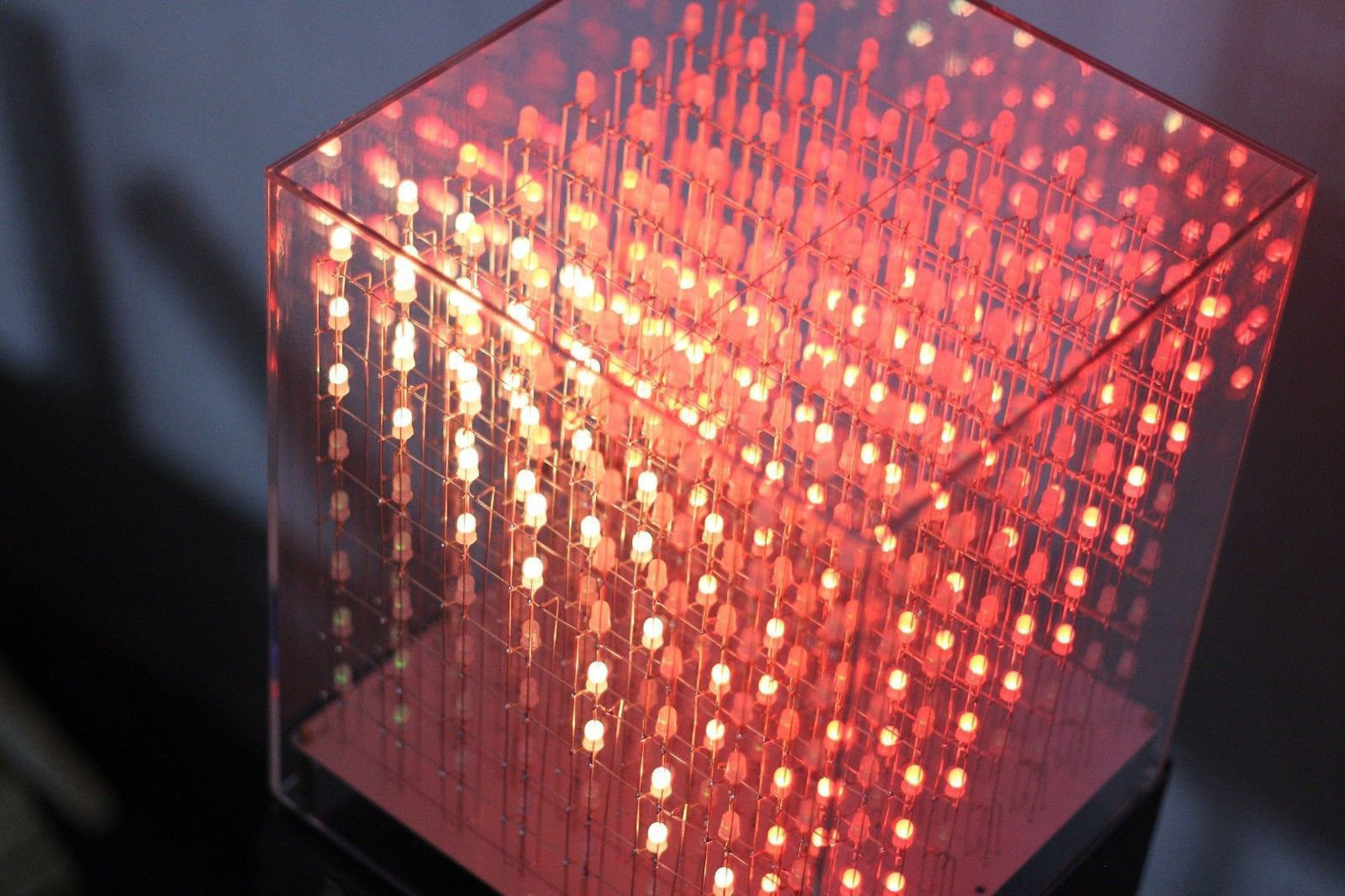 Auracube 8x8x8 3d Rgb Led Cube Diy Kit From Nixt Clock On Tindie How To Build Multicolor Hd 4
