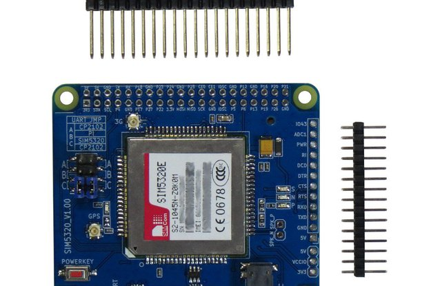 3G/GPS SIM5320(E/A) Shield for Raspberry Pi