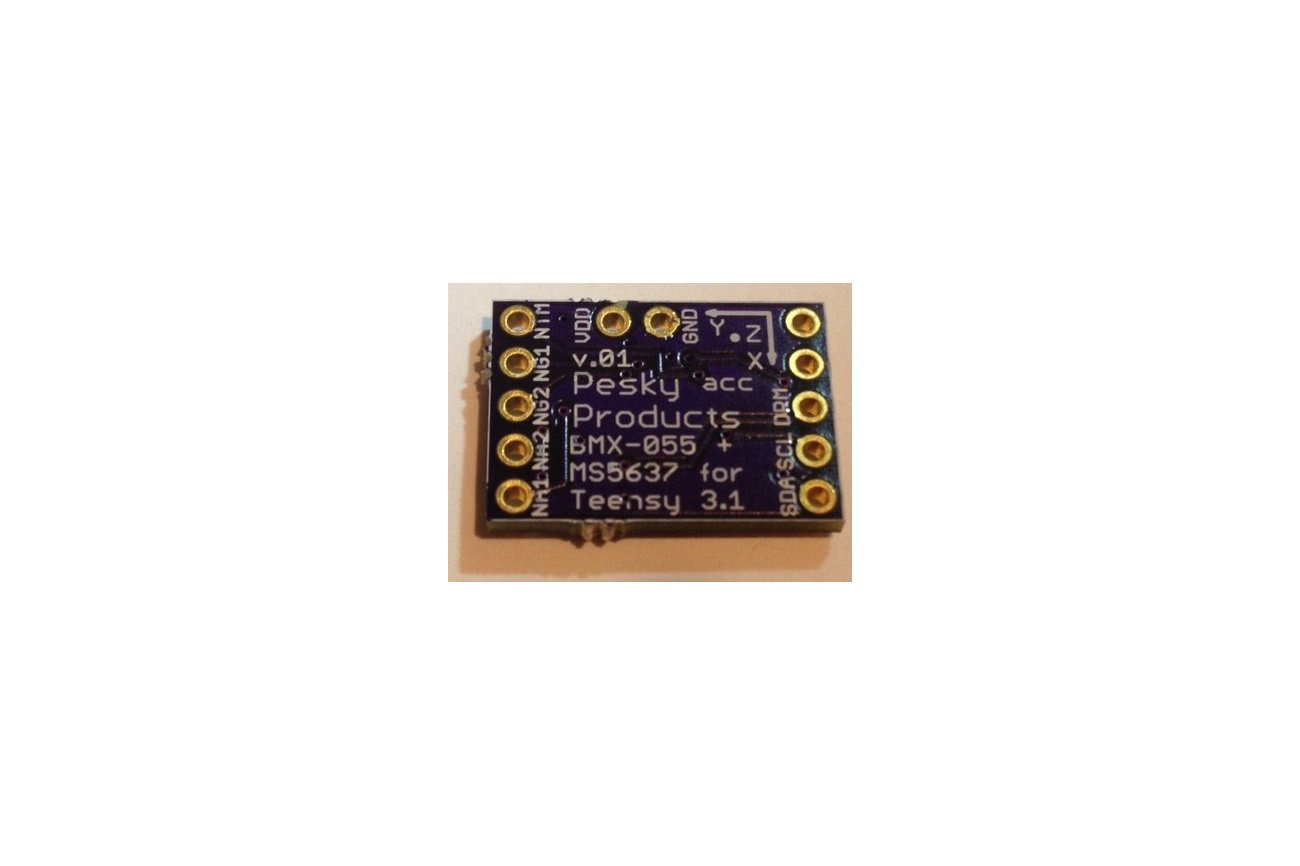 BMX-055 9-axis motion sensor add-on for Teensy 3.1