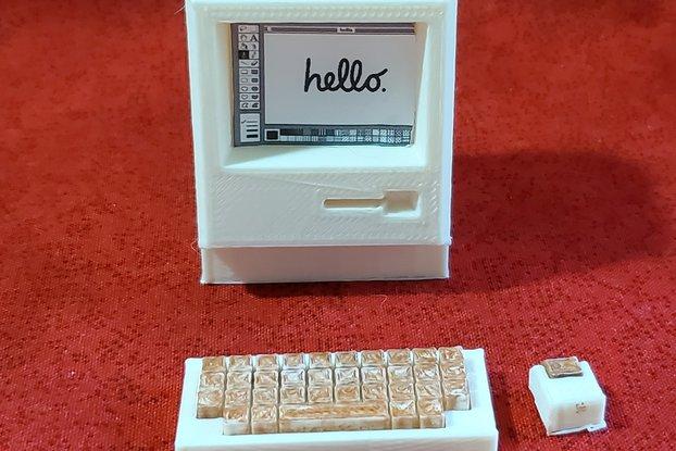 Retro Macintosh 128k Mini Computer -3D printed