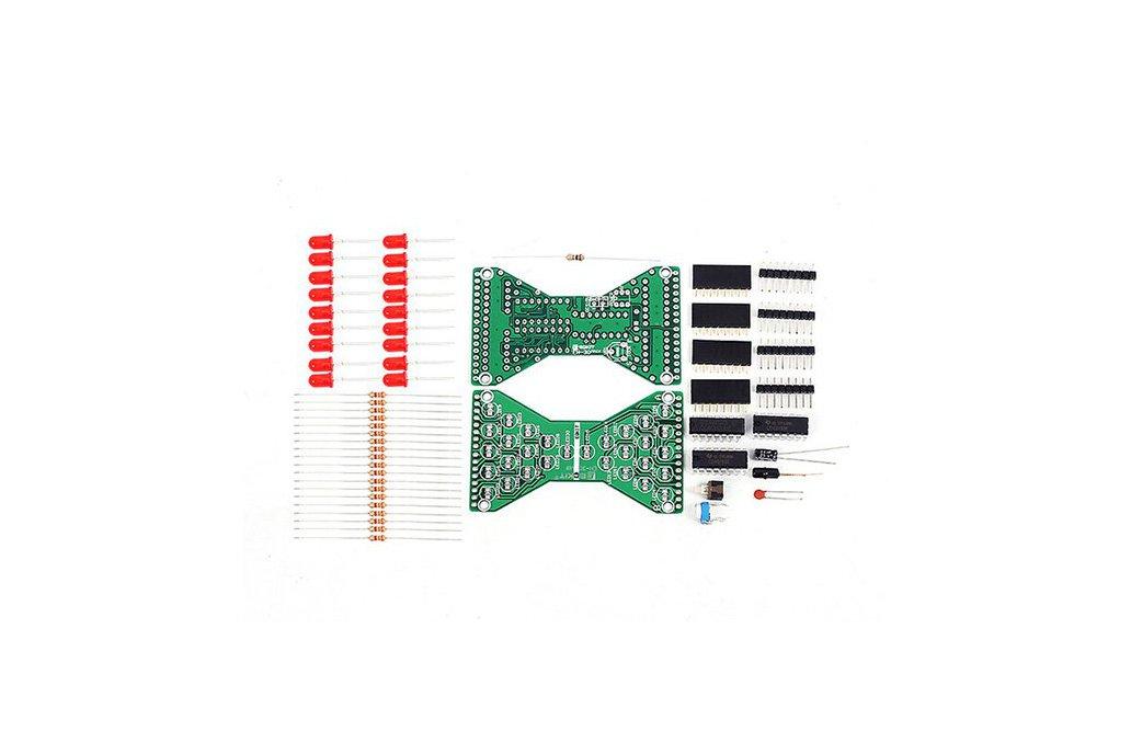 3.3V-5V Red LED Hourglass DIY Kit(13068) 6