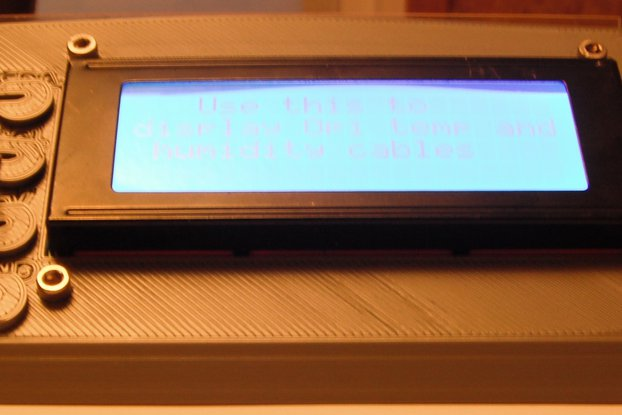 One Wire 4x20 LCD Display