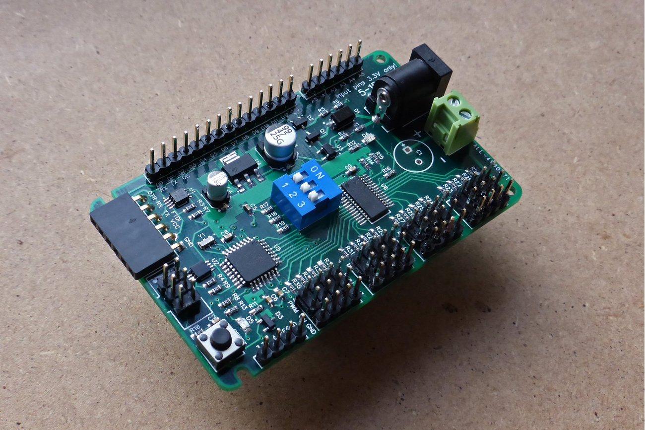 ATmega 328P development board with 16-channel PWM