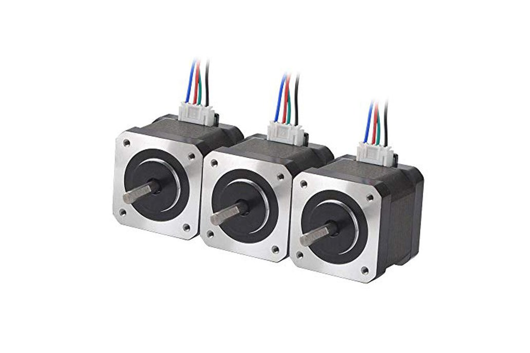 3 PCS Nema 17 Stepper Motor 45Ncm(63.74oz.in) 1