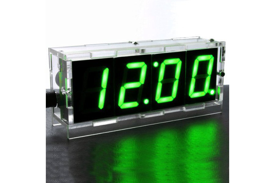 DIY 4 Digit LED Electronic Clock Kit Large Screen