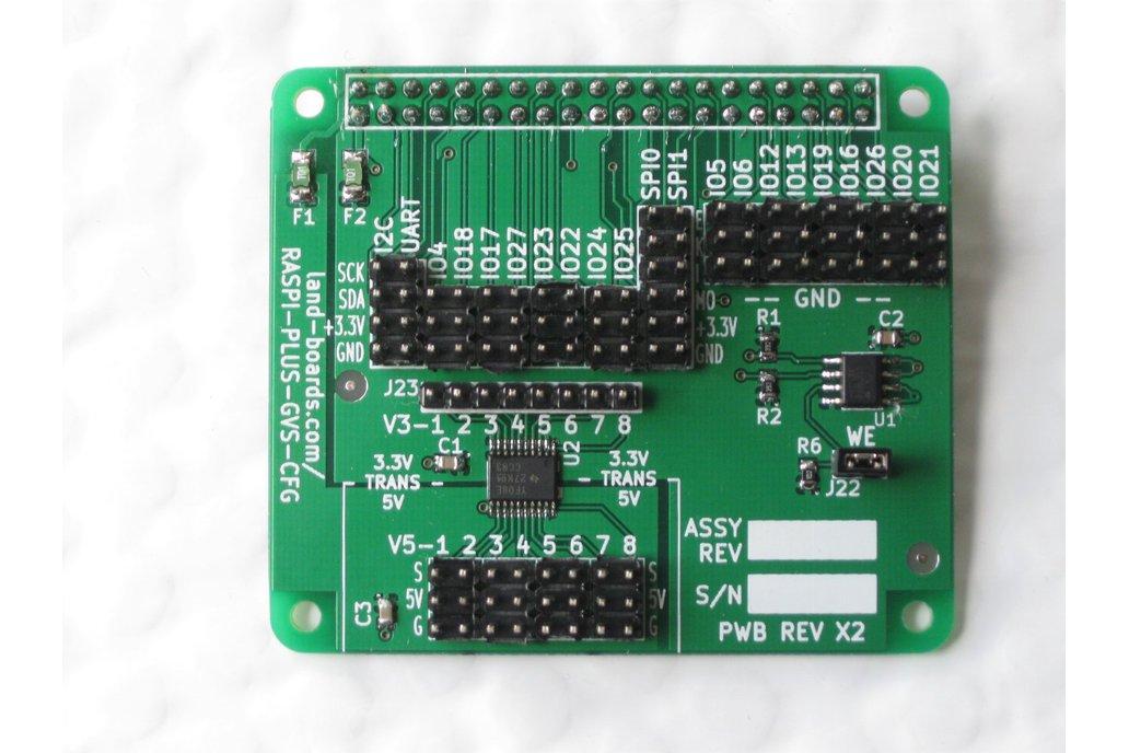 Raspberry Pi B+ Sensor Conn. Hat (RPP-GVS-CFG) 1