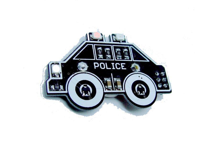Police car - LED learn to solder kit