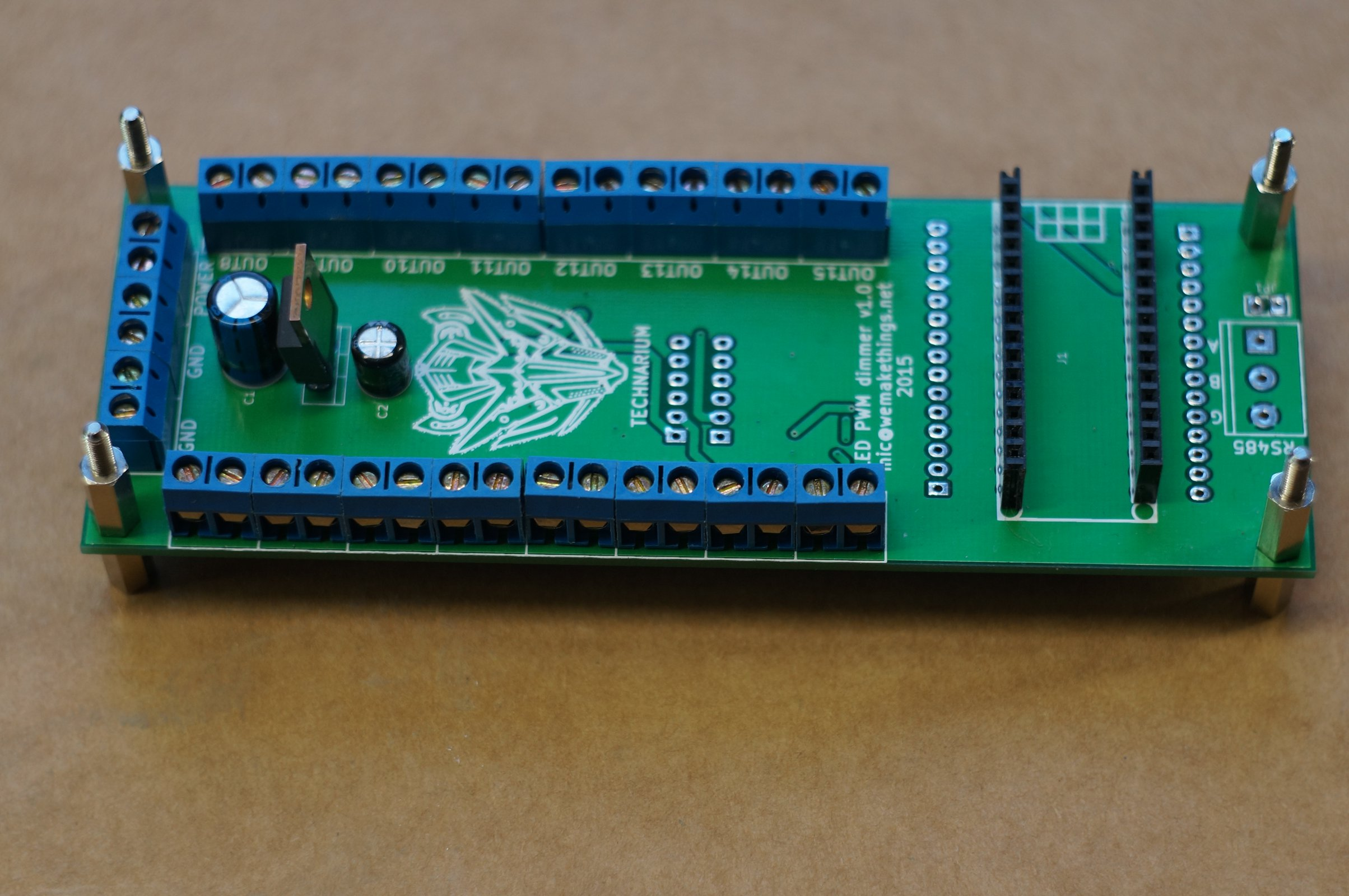 16 channel 12 bit pwm led dimmer from catnip electronics on tindie. Black Bedroom Furniture Sets. Home Design Ideas