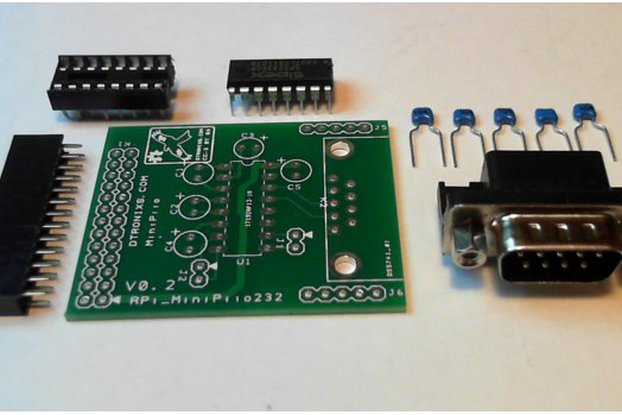 Raspberry PIIO - MiniPiio RS232 board (Kit)