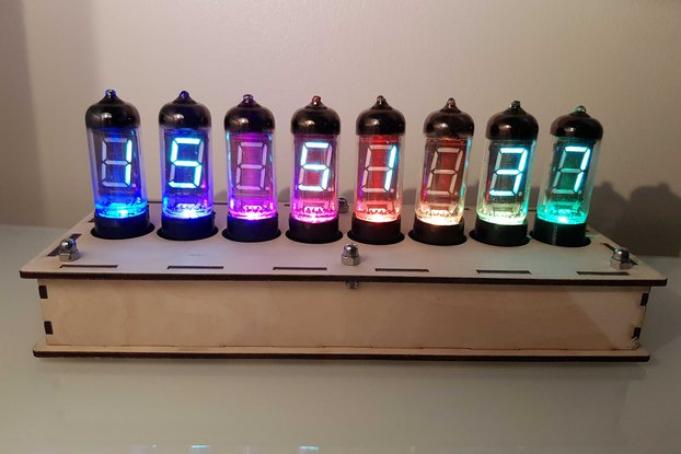 IV-11 Vacuum Fluorescent Display Clock Kit+WiFi!