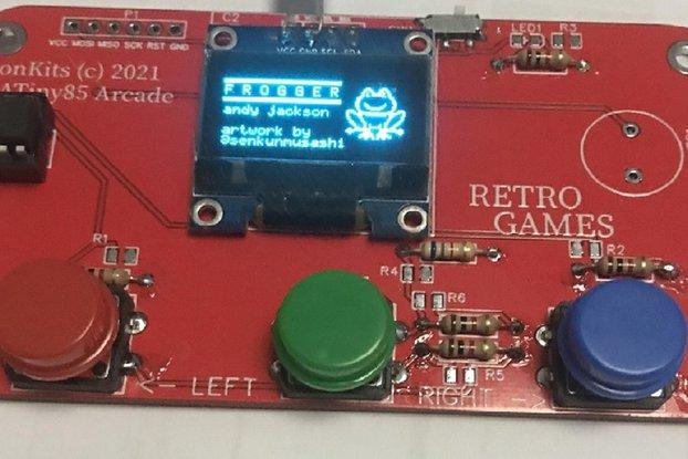 Retro Game Tiny OLED Arcade Console