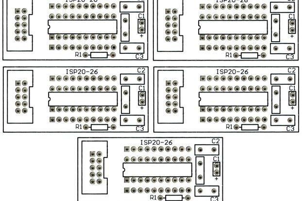 5PCS ATTiny 20 Pin Breakout Boards Free Shipping
