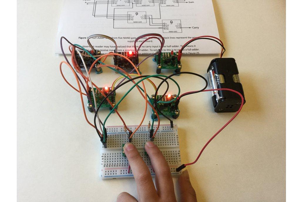 Half-Adder Built from Transistor/NAND Gates 4