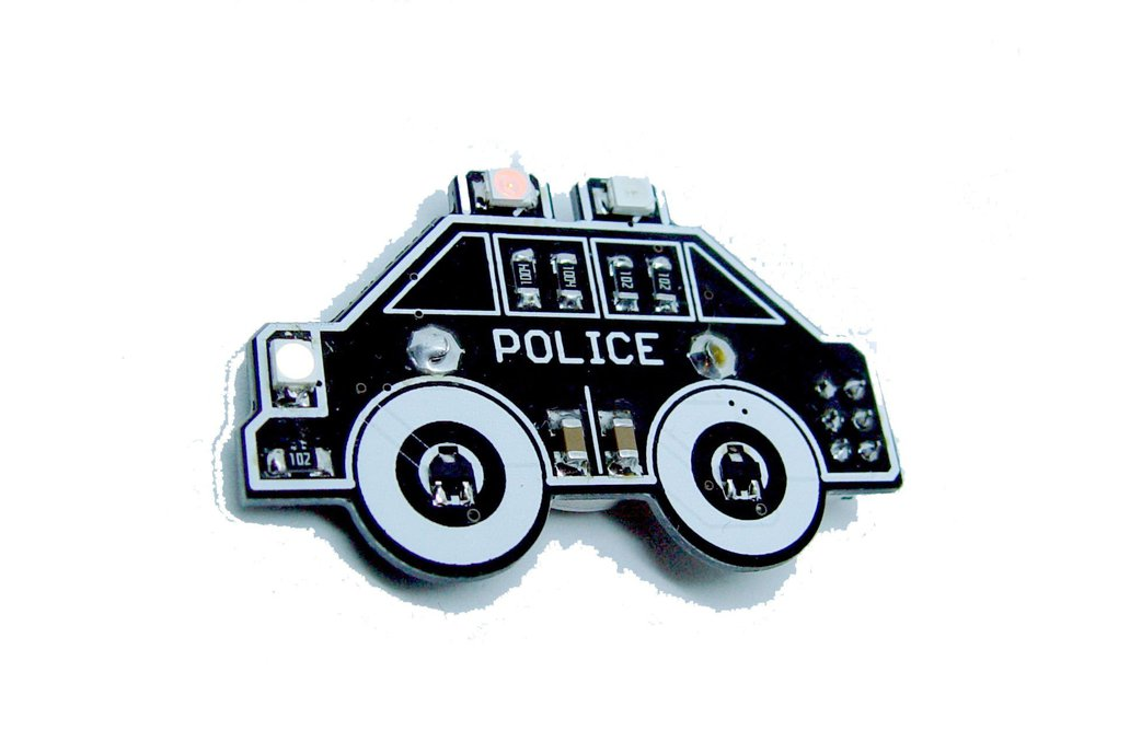 Police car - LED learn to solder kit 1
