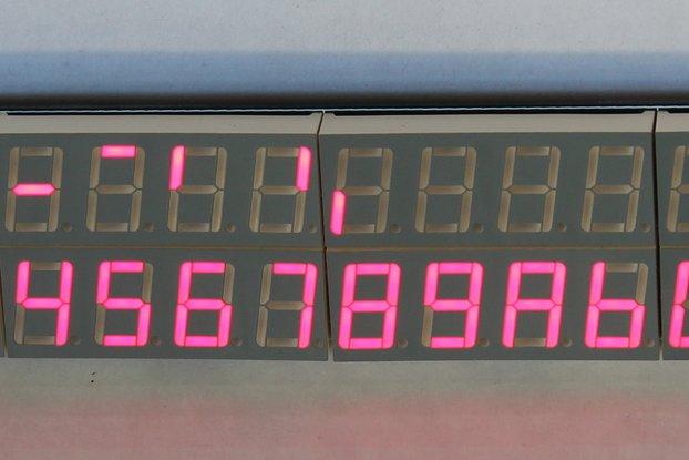 32x 7+1 Segment Display Panel