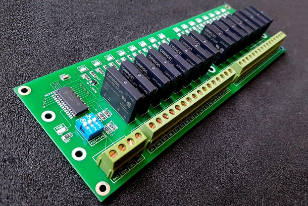 16 Channel I2C Solid State Relay Module