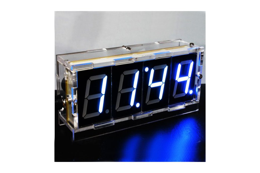 DIY 4 Digit LED Electronic Clock Kit Large Screen 1