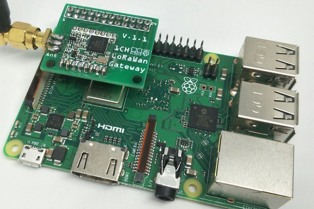 1 Channel LoRaWan Gateway Shield for Raspberry Pi