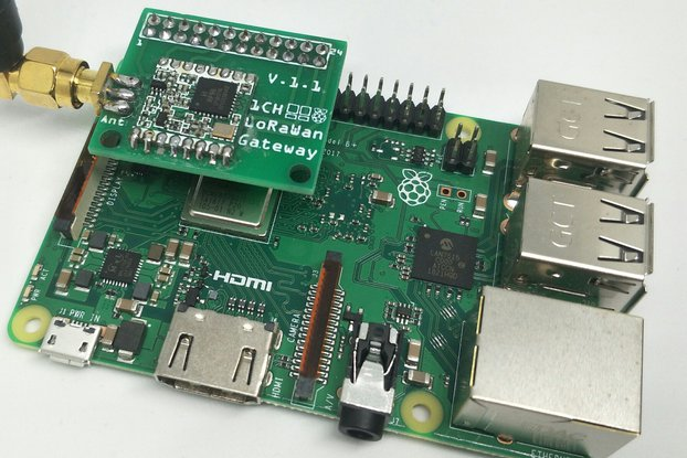 1 Channel LoRaWan Gateway Shield for Raspberry Pi