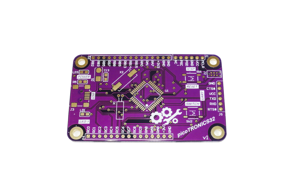 picoTRONICS32 PIC32MX Development Board PCB 1