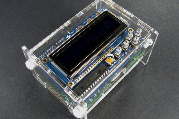Adafruit LCD + Keypad Plate Enclosure - Clear