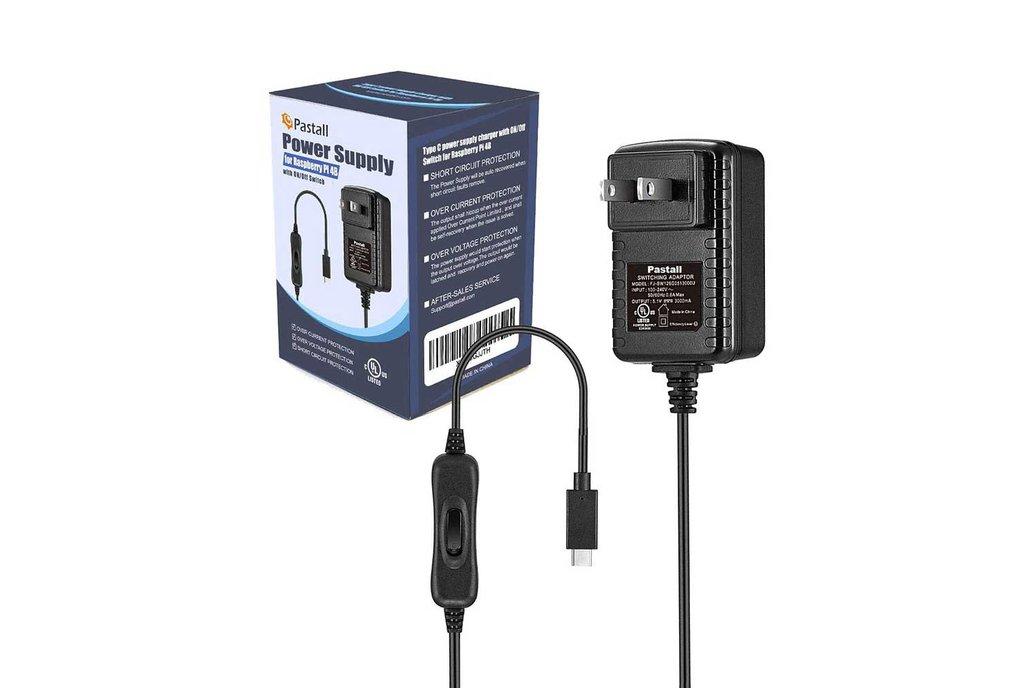 PASTALL RASPBERRY PI 4B POWER SUPPLY 5V 3A (USB-C) 1