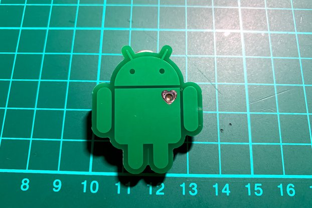 Android ❤️ programmable pin badge
