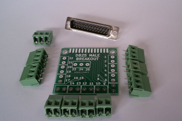 DB25 Male D-Sub 25pin Parallel Breakout Board Kit