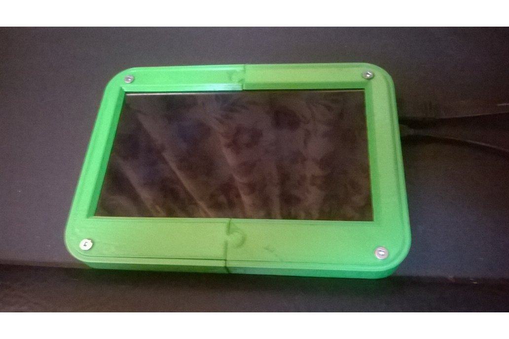 "LCD case and 7"" TouchScreen  for Raspberry Pi 1"