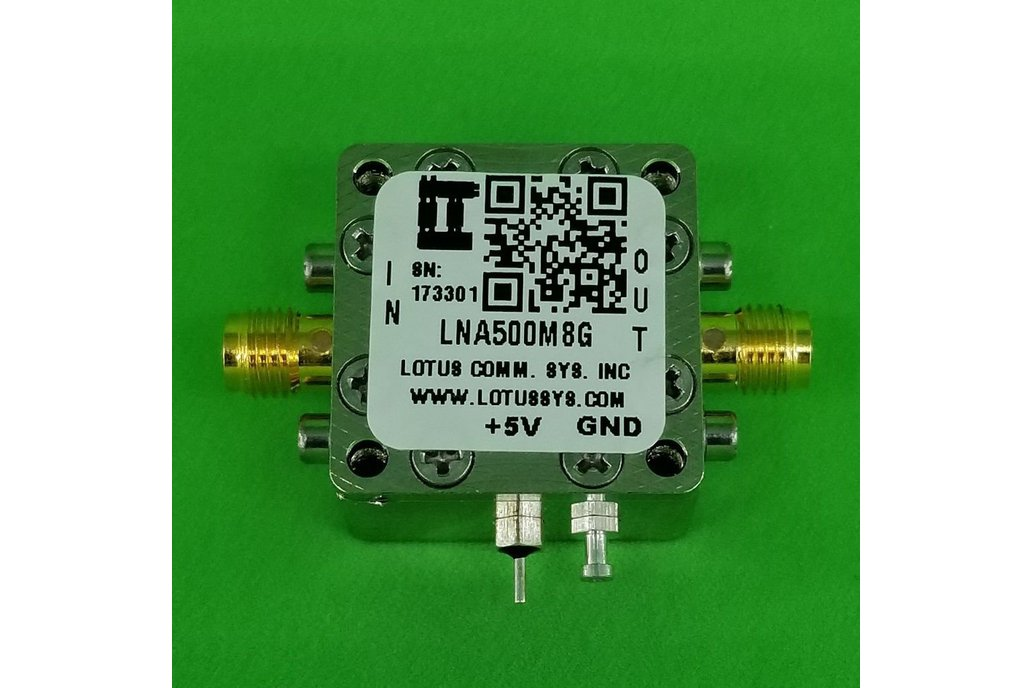 Amplifier LNA 1.3dB NF 0.5GHz to 8GHz 21dB Gain 1