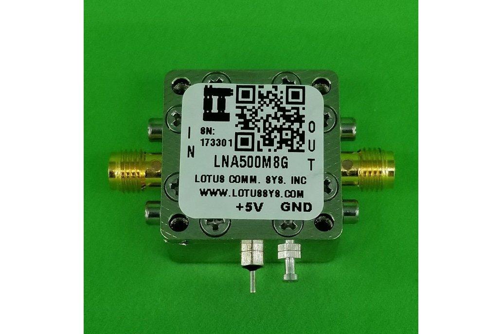 Amplifier LNA 1.3dB NF 0.5GHz to 8GHz 21dB Gain 1
