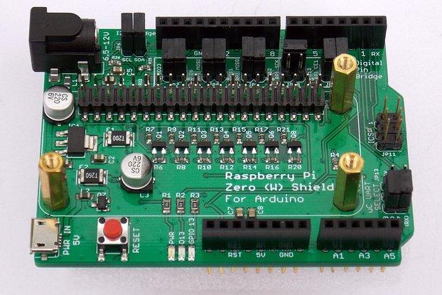 Raspberry Pi Zero (W) Shield for Arduino
