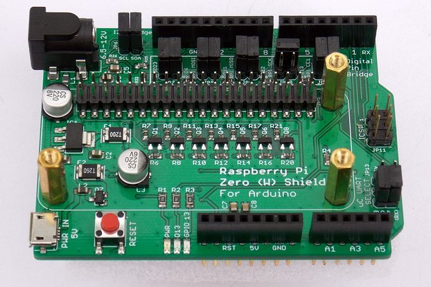 Raspberry Pi Zero (W) Shield for Arduino