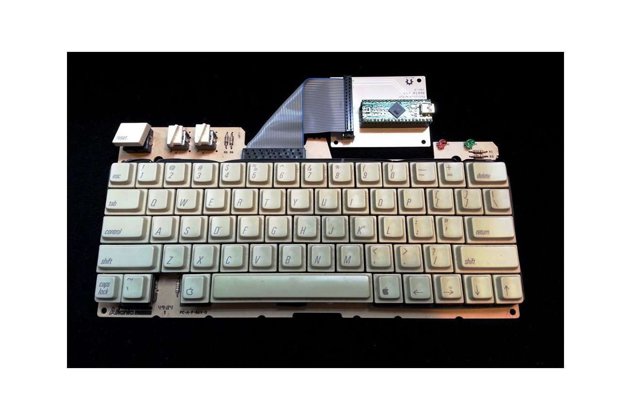 RetroConnector keyboard shield - Apple IIc or IIc+