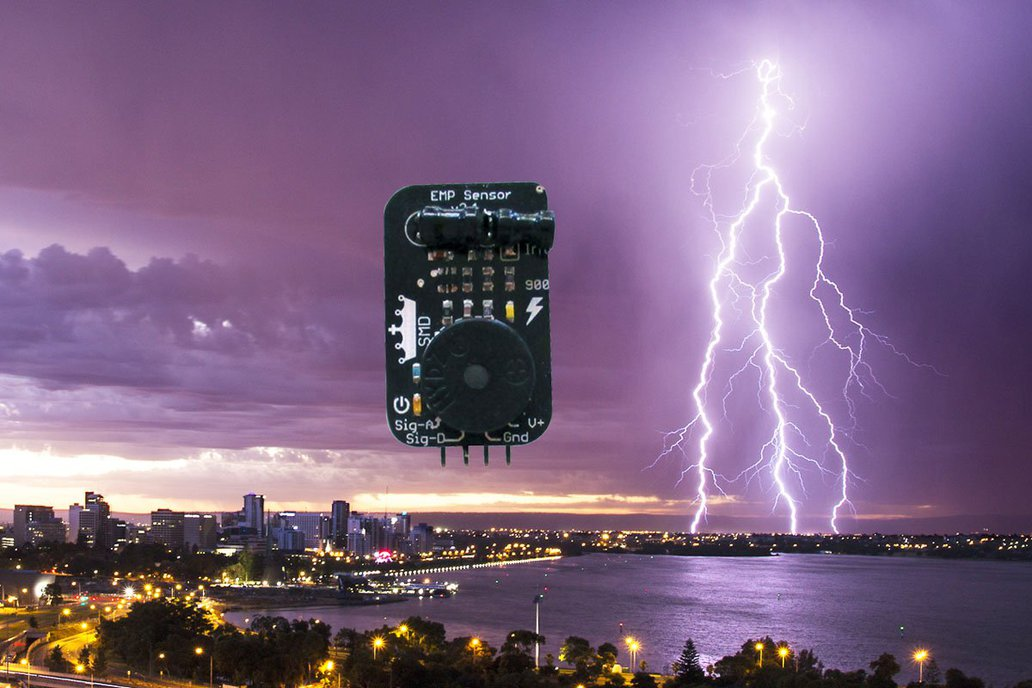EMP sensor, detect lightning and other phenomena ! 1