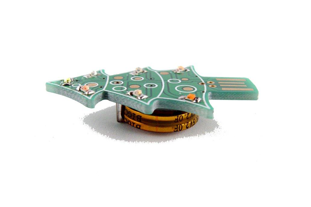 USB & Supercapacitor powered LED Xmas tree - KIT 1