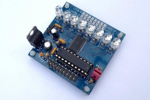 TLC5951 24ch LED driver board w MSP430 MCU (PCB)