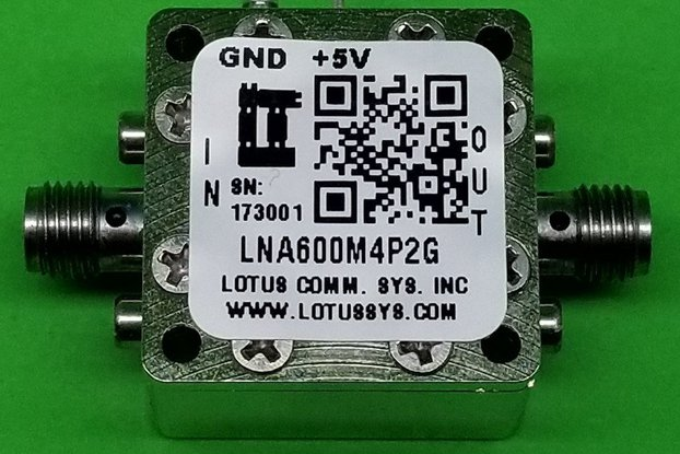 Amplifier LNA 0.6dB NF 600MHz to 4.2GHz