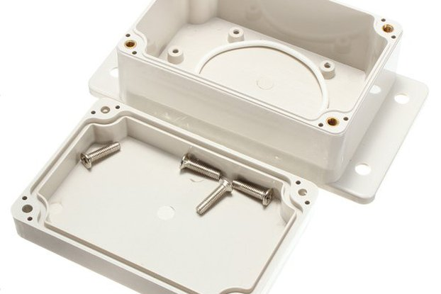 White Plastic Waterproof Electronic Case PCB Box 1